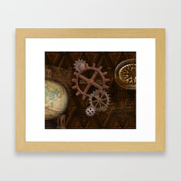 Comforts of Steampunk Framed Art Print