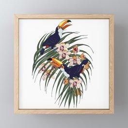 Toucans in the tropics Framed Mini Art Print