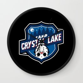 Camp Crystal Lake Badge Wall Clock