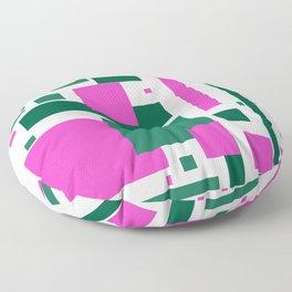 Pink and green mod squares Floor Pillow