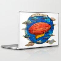 led zeppelin Laptop & iPad Skins featuring Zeppelin by sugu