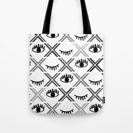 Original Black and White Eyes Design Tote Bag