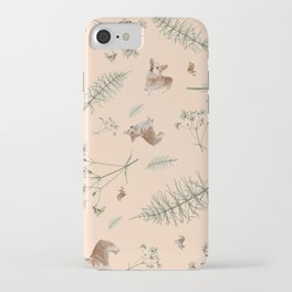 pale pink holiday corgi iPhone Case