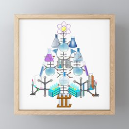 Oh Chemistry, Oh Chemist Tree Framed Mini Art Print
