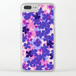 Flower Shower Clear iPhone Case