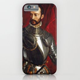 Lorenzo Medici in Gothic Armor iPhone Case