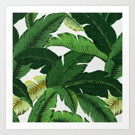 banana leaf palms Art Print