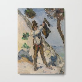 Man with a Vest Metal Print