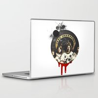 led zeppelin Laptop & iPad Skins featuring Led Zeppelinn by Andrea Valentina