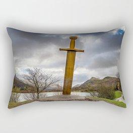 Sword of Llanberis Snowdonia Rectangular Pillow