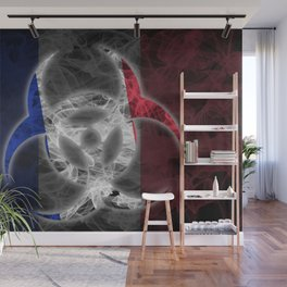 Biohazard France, Biohazard from France, France Quarantine Wall Mural