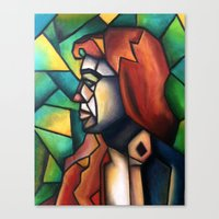 stained glass Canvas Prints featuring Stained Glass  by Alexa Brooke Rutledge