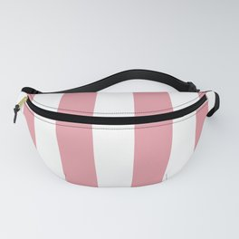 Dusty Pink Daisy and White Wide Cabana Stripes Fanny Pack