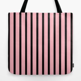 Pink And Black Stripes | Pastel Goth Decor Tote Bag