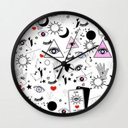 Black Magic - White Wall Clock