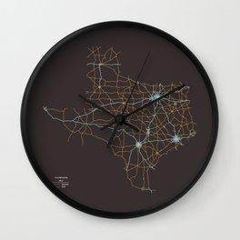 Texas Highways Wall Clock