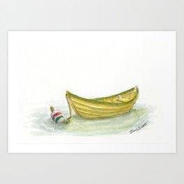 Golden Dory Art Print
