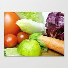 Fresh Vegetables - Restaurant or Kitchen Decor Canvas Print