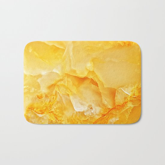 Yellow onyx marble Bath Mat