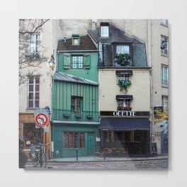 The Streets of Paris, France. Metal Print