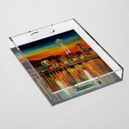 Seattle from Alki Acrylic Tray
