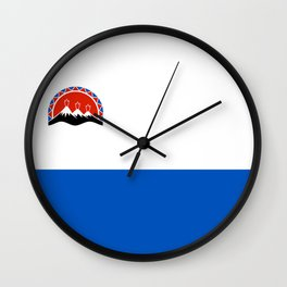 kamchatka flag Wall Clock