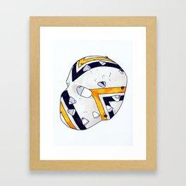 Herron - Mask Framed Art Print