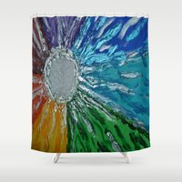 chakra Shower Curtains featuring Chakra Healing by Pixie Willow Art Designs