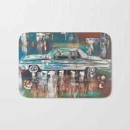 1964 Impala Car Vintage Car Print Colorful Bath Mat
