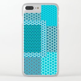 Abstract Turquoise Pattern C1 Clear iPhone Case