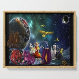 Dragonlings Space Party Serving Tray