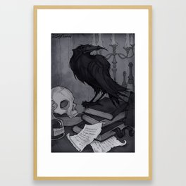 Once upon a Midnight Dreary Framed Art Print