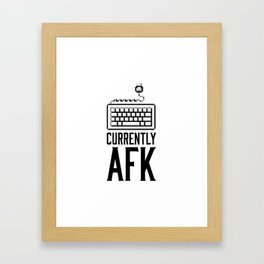 Currently AFK Framed Art Print