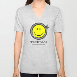 Technics Deejay - Smiley Unisex V-Neck