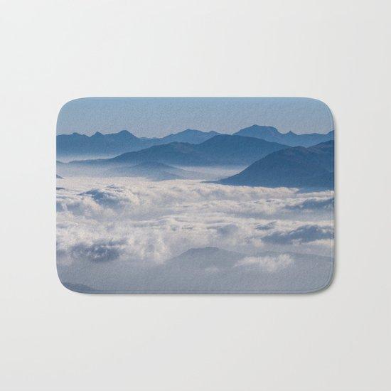 Follow me into the clouds #plane #air Bath Mat