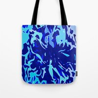 the life aquatic Tote Bags featuring The Life Aquatic by Lior Blum