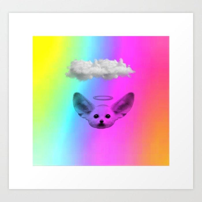 Little Angel Fennec Fox Kunstdrucke