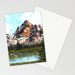 Bob Ross Mountain Artwork Stationery Cards
