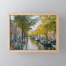 Canal Amsterdam Netherlands Framed Mini Art Print