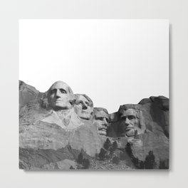 Mount Rushmore National Memorial South Dakota Presidents Faces Graphic Design Illustration Metal Print