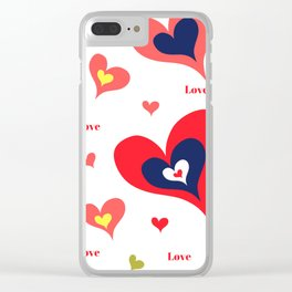 The hearts of Saint Valentines' Day Clear iPhone Case