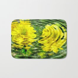 """Earth Laughs in Flowers"" by Artist McKenzie http://www.McKenzieArtStudio.com Bath Mat"