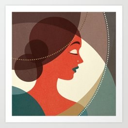 Venn Deco (Part IV) Art Print