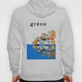 1961 Greece Travel Poster Hoody