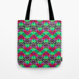 Stitched Vibrant Zigzags Tote Bag