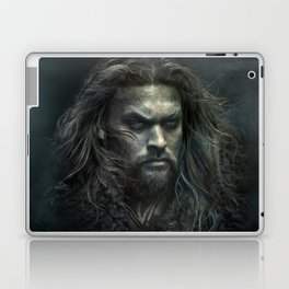 New Aquaman - Jason Momoa portrait Laptop & iPad Skin