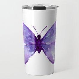 Purple Butterfly Travel Mug