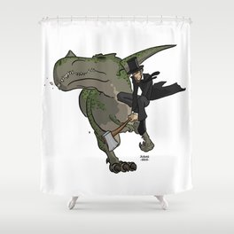 Cross-Time Lincoln Shower Curtain