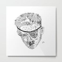 James Joyce - Hand-drawn Geometric Art Print Metal Print