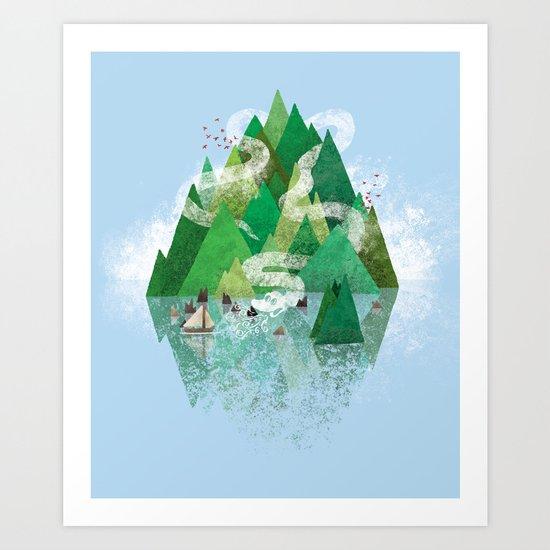Mysterious Island Art Print